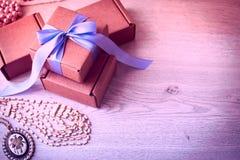 Подарочные коробки для торжества Стоковые Изображения RF