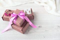 Подарочные коробки для торжества Стоковое Фото