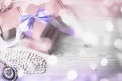 Подарочные коробки для торжества Стоковое фото RF