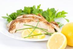 подача лимона цыпленка холодная Стоковая Фотография