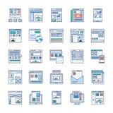 Подача места, набор значков рамки провода плоский бесплатная иллюстрация