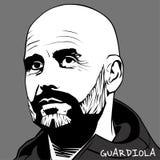 Подбадривающий Guardiola иллюстрация штока