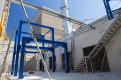 Подвал завода co-generation Стоковое фото RF