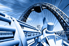 подвес моста самомоднейший Стоковая Фотография