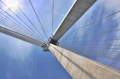 подвес моста солнечный Стоковые Фото