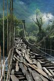 подвес моста старый Стоковые Изображения RF
