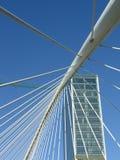 подвес моста bilbao Стоковое Изображение RF