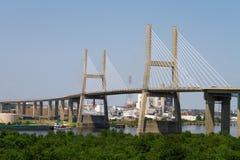 подвес черни моста Стоковое фото RF