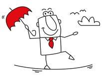 Подвижность бизнесмена иллюстрация штока