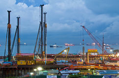 Подводная конструкция тоннеля MCE Сингапур Стоковое Изображение RF