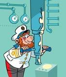 подводная лодка капитана Стоковое Изображение