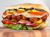 подводная лодка сандвича meatball Стоковые Изображения