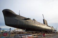 подводная лодка экспоната стоковое фото rf