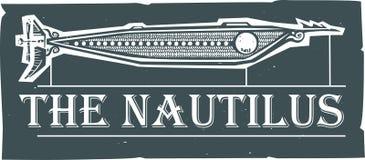 Подводная лодка Steampunk Nautilus Стоковое Изображение