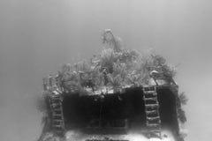 подводная развалина Стоковые Фото