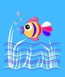 подводные рыбы, графики для продуктов детей иллюстрация штока