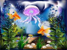 подводный мир иллюстрация штока