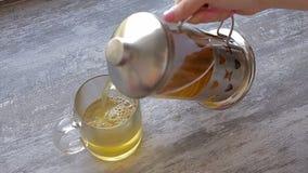 Подготавливать зеленый чай сток-видео
