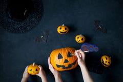 Подготавливать тыкву на хеллоуин Стоковое Фото