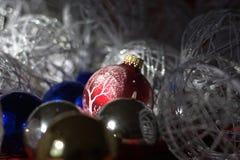Подготавливать украшения рождества Стоковая Фотография