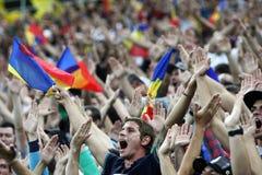 Подготовительные мероприятия кубка мира 2014: Румыни-Андора Стоковое фото RF