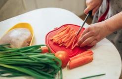 Подготовка вегетарианской еды стоковые изображения rf
