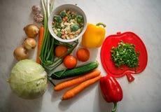 Подготовка вегетарианской еды стоковая фотография