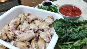 Подготовка для итальянского сотейника цыпленка стоковые изображения