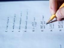 Подготовка домашней работы математики и алгебры Стоковые Изображения RF
