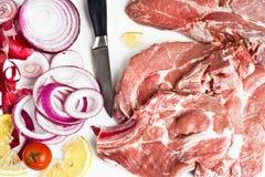 подготовка мяса Стоковая Фотография RF