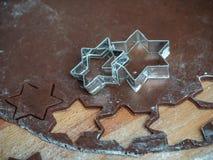 Подготовка печенья пряника рождества Стоковая Фотография RF