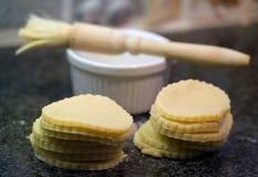 подготовка печенья случая Стоковое фото RF
