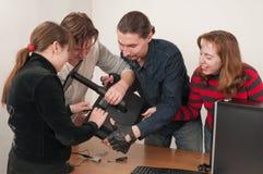 подготовка работы вычислительной машины Стоковые Изображения RF