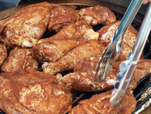 подготовленная решетка cookout цыпленка bbq Стоковые Изображения RF