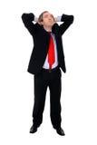 подготовляет бизнесмена его протягивать Стоковая Фотография RF