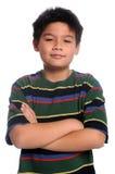 подготовляет детенышей пересеченных мальчиком Стоковая Фотография
