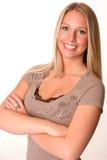 подготовляет предназначенное для подростков пересеченное блондинкой Стоковое Изображение