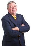 подготовляет усмехаться сложенный бизнесменом возмужалый Стоковая Фотография RF