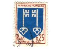 подготовляет штемпель почтоваи оплата mont de пальто города marsan Стоковые Фотографии RF