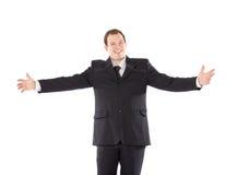 подготовляет outstretched человека bussiness Стоковое Изображение RF