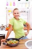 Подготовлять вегетарианскую еду Стоковое Фото