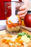 подготовлять мати babyfood стоковое изображение rf