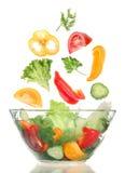 подготовлять овощ салата Стоковые Изображения