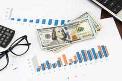 Подготовлять рапорт Голубые диаграммы и диаграммы Бизнес-отчеты и p стоковое фото rf
