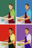 подготовлять человека еды Стоковое фото RF