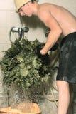 подготовлять besom ванны Стоковое Изображение RF