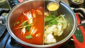 Подготовьте бак супа с сыром стоковое изображение