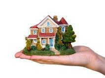 подготовьте белизну изолированную домом Стоковые Фотографии RF