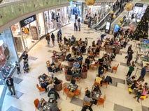 Подготовьте для скидок Нового Года в торговом центре стоковое фото rf