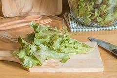 Подготовьте салат на foodtable стоковые фотографии rf